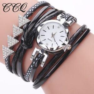 ⌚️NEW⌚️ Leather Wrap Quartz Bracelet Watch
